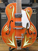 Gretschlimited Edition Jimmyc Custom Pin-striped G5120 - From Japan
