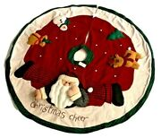 Home Interiors Christmas Cheer Santa And Friends 48inch Wide With Tag-stored