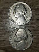 Jefferson Nickels 1938-s 1939 1940 1941-d 1994-p And 1938-d Buffalo Nickel