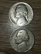 Jefferson Nickels 1938-s, 1939, 1940, 1941-d 1994-p And 1938-d Buffalo Nickel
