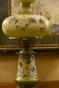Antique Vintage Gwtw Hurricane Gone With The Wind Lamp