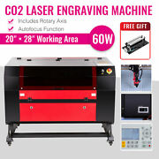 Omtech Co2 Laser Engraver Cutter With Rotary Axis Ruida Autofocus 60w 28x20