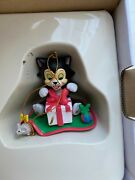 Grolier Disney Christmas Tree Ornament Collection Figaro Model Decoration