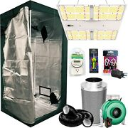 60x60x73 Grow Tent Kit W/ Hlg 650r And Fan + Carbon Filter Combo 5and039x5and039 Tent