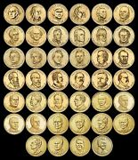 Complete Presidential Dollar Set Brilliant Uncirculated Us 40 Coin Total