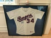 Nolan Ryan Rangers Full Size Jersey Signed And Numberedandnbsp And Baseball Signed Coa