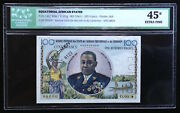 Equatorial African States, 100 Francs 1961 P-2s Specimen, Icg Xf-45, Scarce Note
