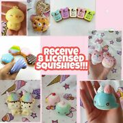 Surprise Set Of 8 Pcs Rare Licensed Squishies Kawaii Squishy Squeeze Toy Cute