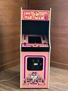 New Pink Ms. Pacman Arcade Machine Upgraded To Play 412 Games