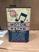 Vintage Whiz Motor Rythm Lubricant Advertising Tin Can Can Bad Shape But Full
