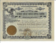 Delaware 1908 Railways Surface Contact Supplies Company Stock Certificate