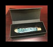 Bear And Bull Cutlery Premier Edition Abalone Green Sparkle Trapper Knife