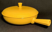 Homer Laughlin Fiesta Yellow French Round Covered Casserole