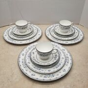 Vintage 15 Piece Set Of Wedgwood Gardenia Bone China R4628 1980and039s Discontinued