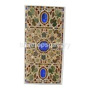 4and039x2and039 Black Marble Dining Table Top Inlay Pietra Dura Inlay Furniture Decor B349