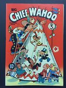 1943 Big Chief Wahoo 3 Comic Vf/nm White Pages Cgc It W.c.fields Cleveland