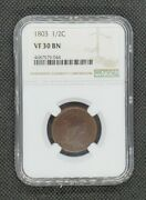 1803 Draped Bust Half Cent | Ngc Vf30 | Excellent Detail And Color