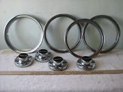 Oem Set Of 4 Chevrolet Gm 4x4 Center Caps And 4 Beauty Trim Rings 15550420-b
