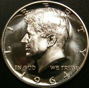 1964 Kennedy Half Dollar Gem 90 Silver Proof Coin From Us Proof Set