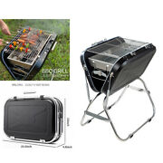 Portable Outdoor Charcoal Grill Bbq Household Stainless Steel Folding Barbecue