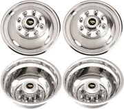 Jdf1608-04 Ford F-350 Drw 16 Inch Stainless Steel Hubcaps/simulators Set