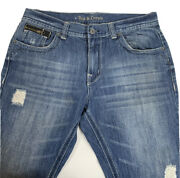 Axe And Crown Mens Denim Bootcut Jeans Sz 36 X 30 Distressed Stretch