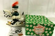 Vintage Steinbach Smoker S764 Frederick The Great On Rocking Horse Music Box