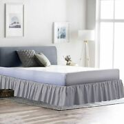 Dust Ruffle Bed Skirt 100 Microfiber Bed Wrap Platform Silver Queen/king Size