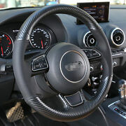 Hand Sewing Top Leather Carbon Fiber Steering Wheel Cover For Audi A5 A3 A7