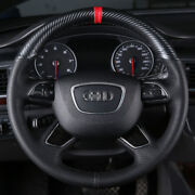 Hand Sewing Top Leather Carbon Fiber Steering Wheel Cover For Audi Q7 Q5 A6