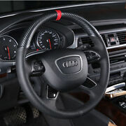 Hand Sewing Top Leather Carbon Fiber Steering Wheel Cover For Audi A6 Q7 Q5