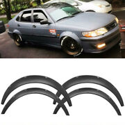 4pcs Universal Fender Flares Wide Body Kit Wheel Arches Durable Pu For Toyota