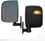 Golf Cart Led Side Mirrors With Turn Signal Universal Fit E-z-go,yamaha,club Car