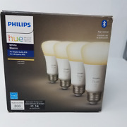 Philips Hue White 4-pack A19 Led Smart Bulb Bluetooth And Zigbee Open Box Excellen