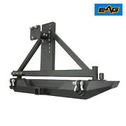 Eag Rear Bumper With Secure Lock Tire Carrier Fit 1987-2006 Jeep Wrangler Tj Yj