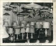 1956 Press Photo Electrical Supply Company's Lighting Fixtures Showroom
