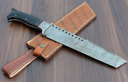 Custom Hand Made Damascus Steel Bowie Knives For Christmas Gift Pure Sheath