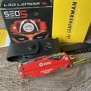 Limited Edition Set Leatherman Charge American Red Cross Multi Tool Led Lenser