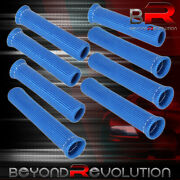 For Bmw 8x Slip On Spark Plug Wire Heat Sleeve Insulation Wrap Thermo Drag Blue