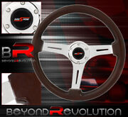 350mm Dark Wood Track Race Tuning Light Weight Steering Wheel Jdm Godsnow Button