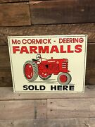 Mccormick Deering Farmall Sales Sign Collectable Farming Tractors Agriculture