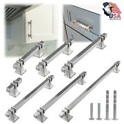 Brushed Nickel Traditional Cabinet Handles Pull Kitchen Hardware Stainless Steel