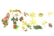 Lot Assorted Christmas Holiday Decor Items Fruits Cones Ornaments Berries