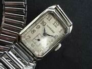 Old Longines Small Second 14k White Gold Manual Vintage Watch 1928and039s