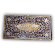 5and039x3and039 Marble Italian Style Dining Table Tops Pietra Dura Mosaic Inlay Decor B403