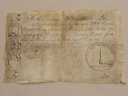 ➡➡colonial 1775 Sc-99 South Carolina Usa 10andpound Currency Higher Grade Note Sn23646