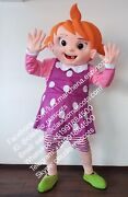 Yoyo Girl Mascot Costume Cocomelon Character Cosplay Halloween Party Event Adult