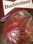 Budweiser Vintage Red Bowling Ball And Bag King Pin - Red Andldquoking Of Beersandrdquo - 16 Lbs