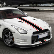 Black Red Graphics Racing Stripe Decal Hood Roof Trunk Stickers For Ford Mustang
