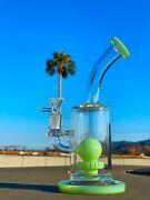 10 Premium Glass Recycler Bong Thick Water Pipe Recycler Hookah Free Shipping